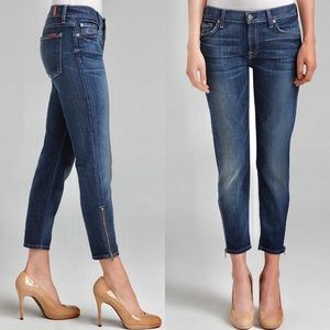 7 For All Mankind Roxanne Cropped Jeans Size 30